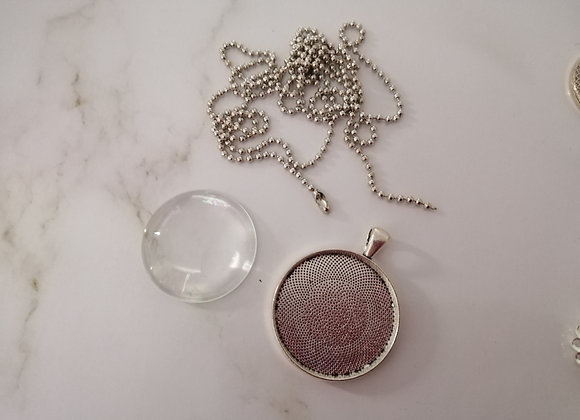Necklace Round Silver - 30mm