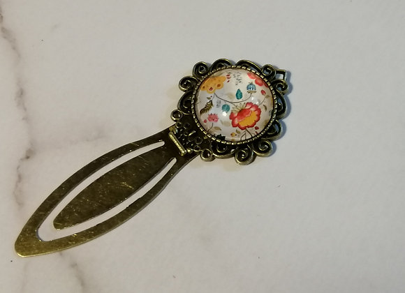 Bookmark - White Floral