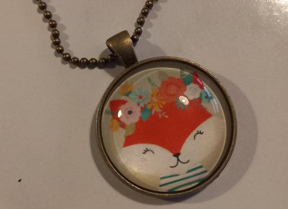 Foxy necklace  bronze  setting