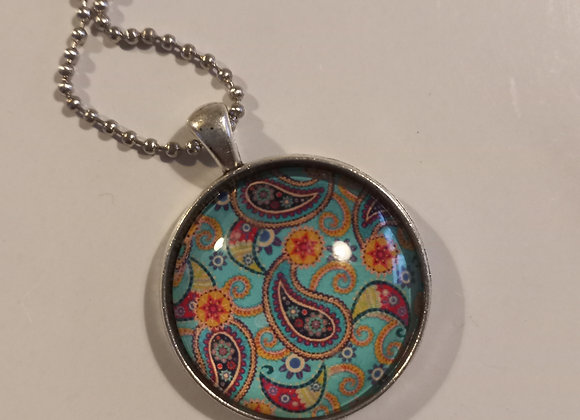 Vintage paisley silver necklace setting
