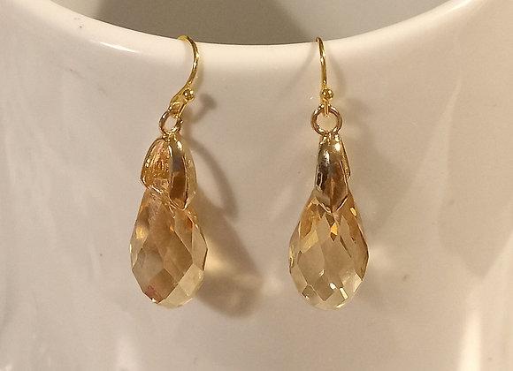 Letitia Golden Gem Earrings