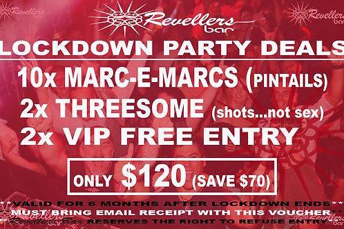 Revellers Lockdown Mega Marc-E-Marc Deal