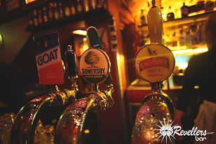 Revellers Bar Beer Taps