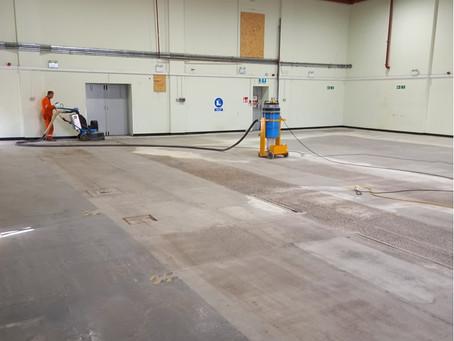 Floor preparation - its a diamond job....