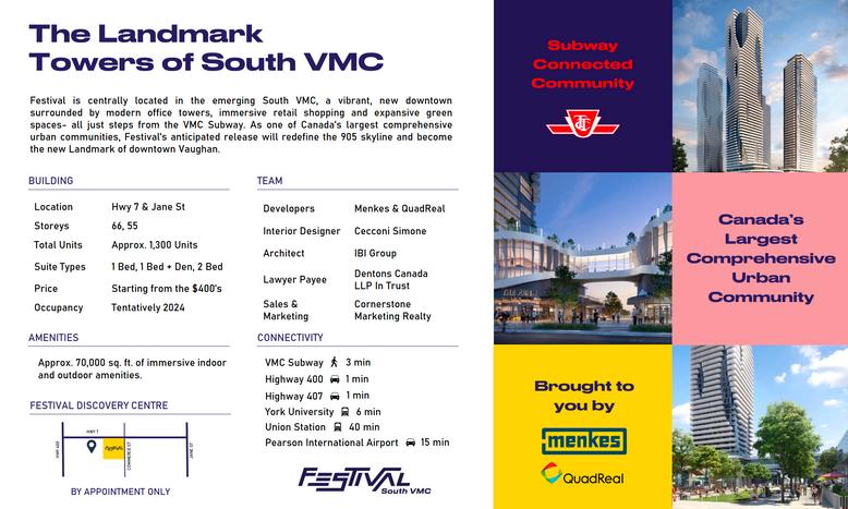 Festival Condos Key Info