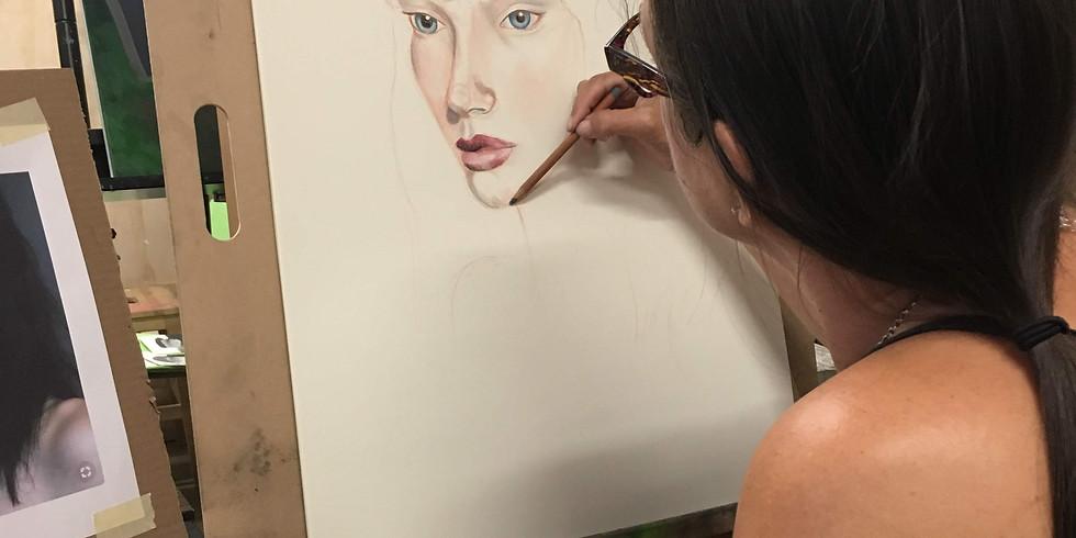 Portraits with Pastel Pencils