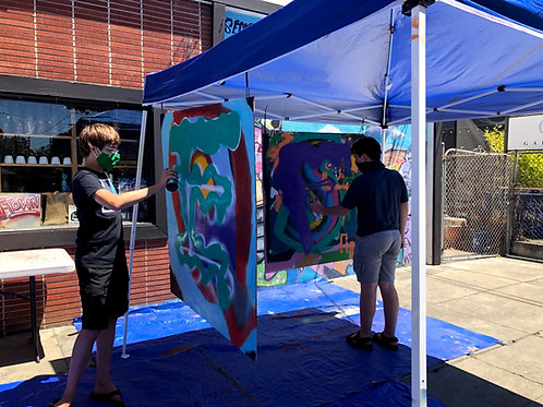 Summer Waterbased Spray Painting, Aug 2-6, 1pm to 3:30pm