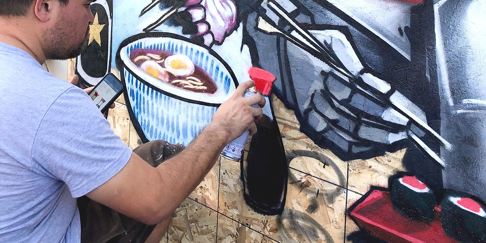 Outdoor Waterbased Spray Painting Art Camp