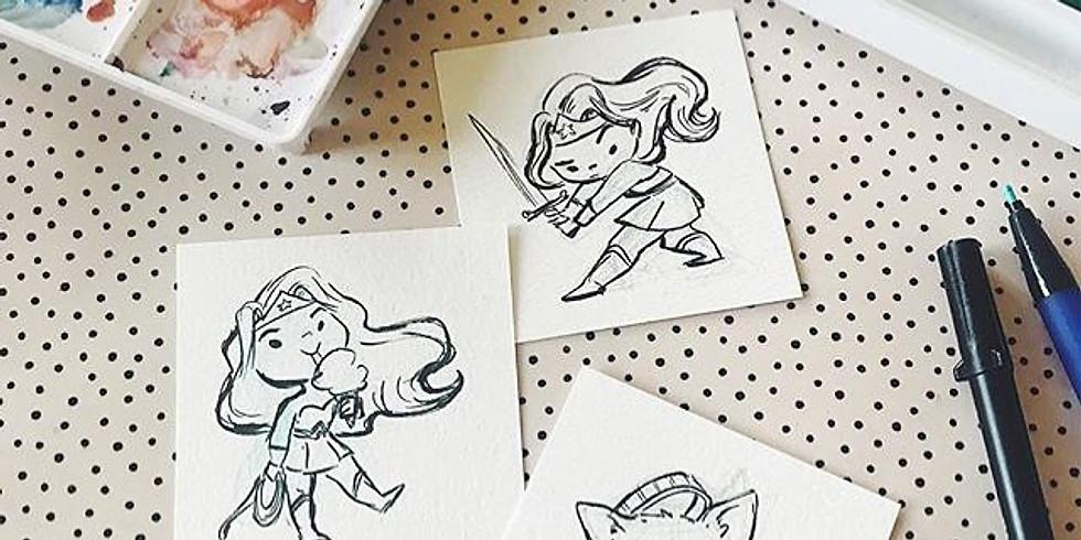 Sketch Meet-Up with Le Petit Elefant (Genevieve Santos)