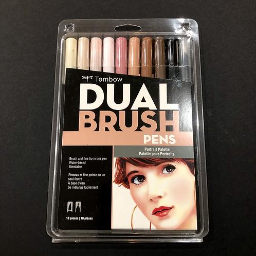 Dual Brush Pens 10-Pen Set - Portrait