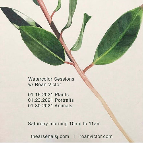 3-sessions Online Watercolor Classes (without gift set)