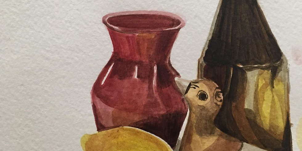 Introduction to Watercolor Still Life AM $35