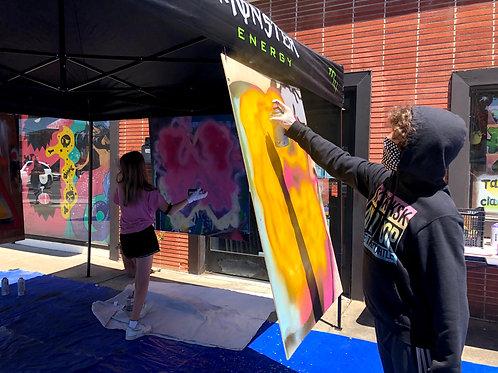 Summer Waterbased Spray Painting, Jun 28- Jul 2, 1pm to 3:30pm