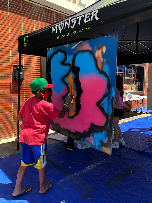 Summer Waterbased Spray Painting, Jul 19-23, 1pm to 3:30pm