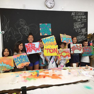 3-day waterbased spray painting. #youth