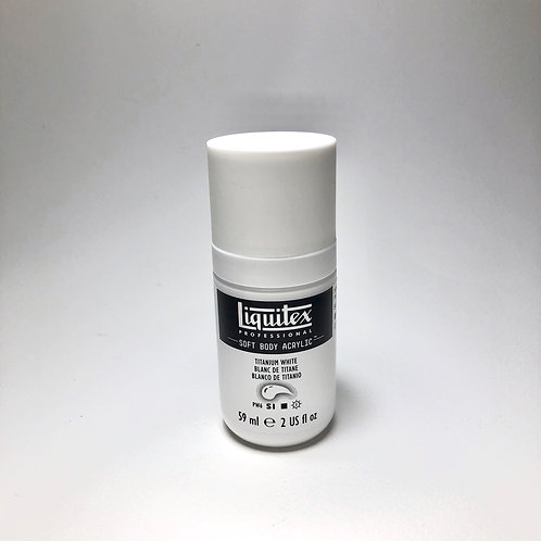 Liquitex Soft Body Acrylic Paint 59ml/2oz -Titanium White