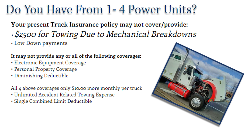 AAA Truck Insurance of Houston provides commercial truck insurance to small fleets (1-4 power units)