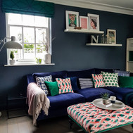 Family Room with colour and pattern
