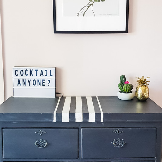 Painted chest of drawers to fit the scheme