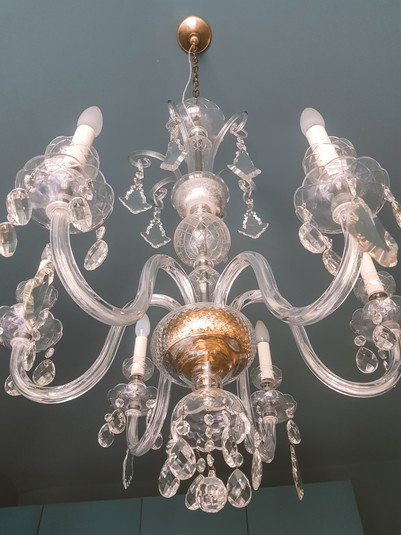 Statment antique Murano glass chandelier