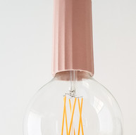 Fun pendant light for a teen bathroom