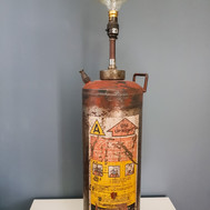 Vintage fire hydrant lamp base