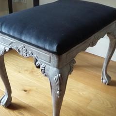 Ornate reupholstered stool