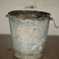 Characterful metal bucket