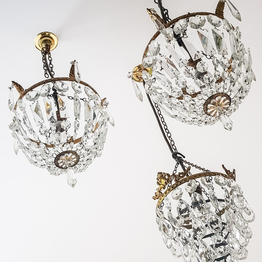 A group of small chandeliers
