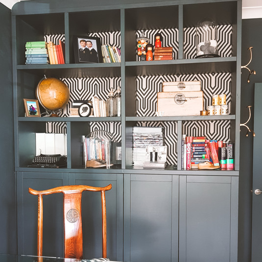 Shelving and stoage is essential and practical to a home office space