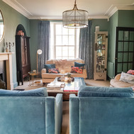 Tonal walls, upholstery and curtains