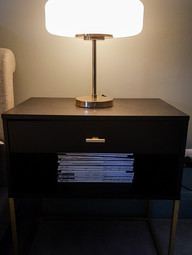 Deco style bedside light to add glamour
