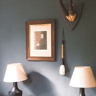 A simple display on a study wall