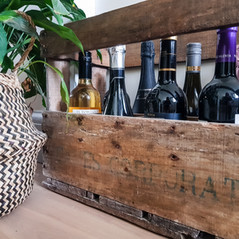 Original French chateau wine crate