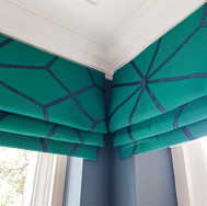 Roman Blinds in contemporary geometric fabric