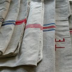 Vintage grain sacks from Eastern Europe