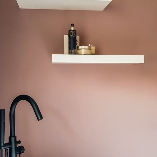 Shelves for toiletries, plants and treasures