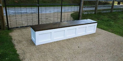 8ft storage bench for an extra long table