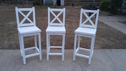 Hand built bar stools, chairs