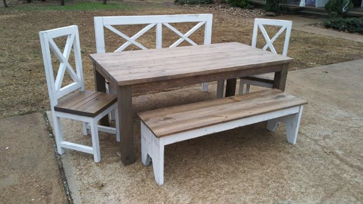 Custom built chairs and bench