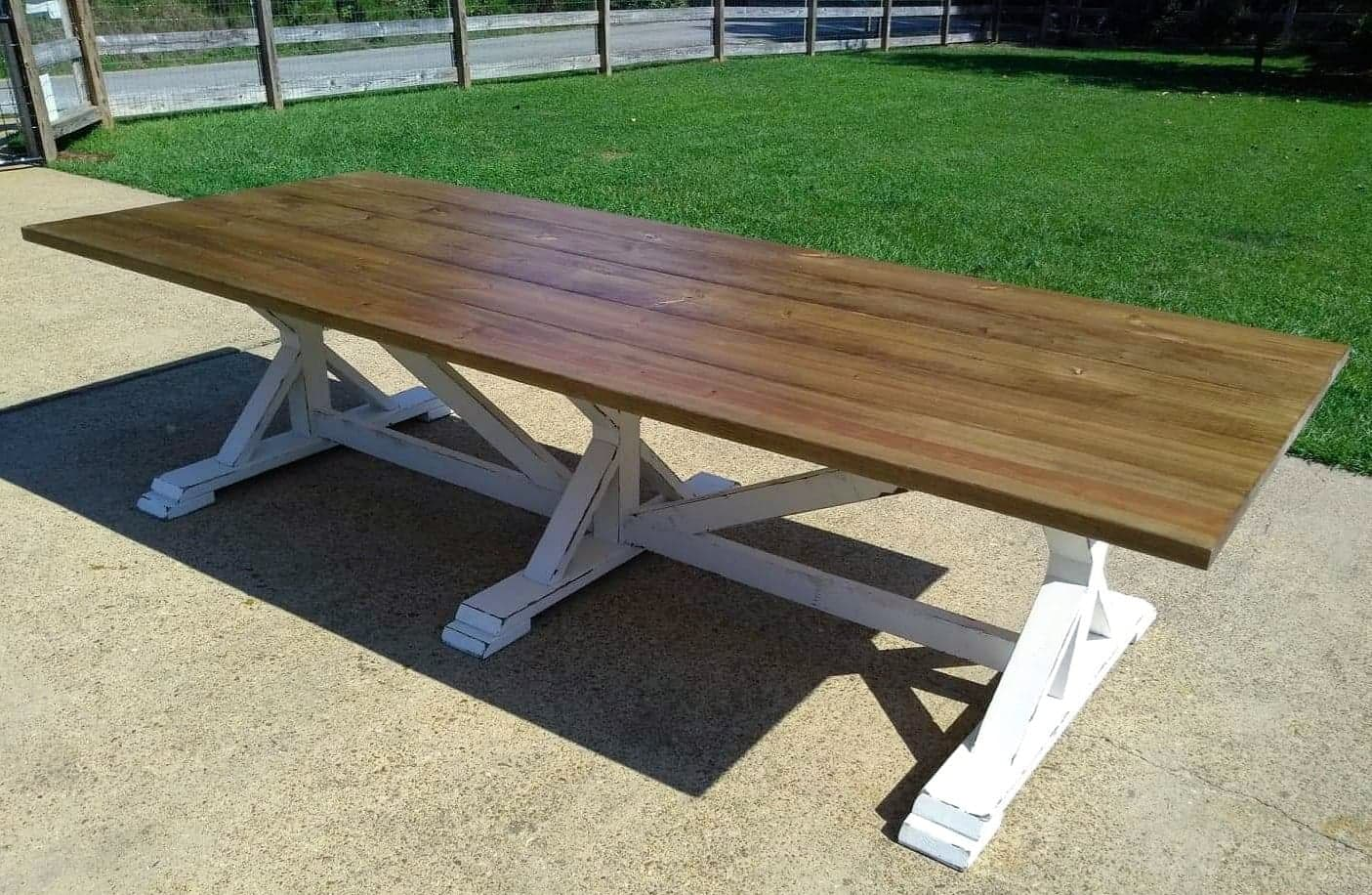 10ft Trestle Dining Table