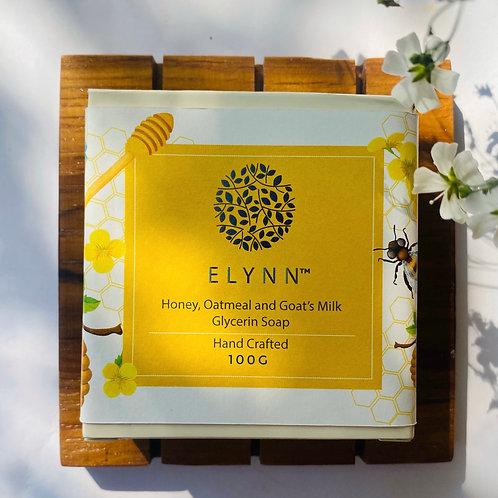 Honey, Oatmeal and Goat's Milk Soap (100g)