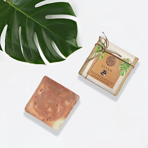 Moroccan Red Clay & Charcoal Spa Bar 100g