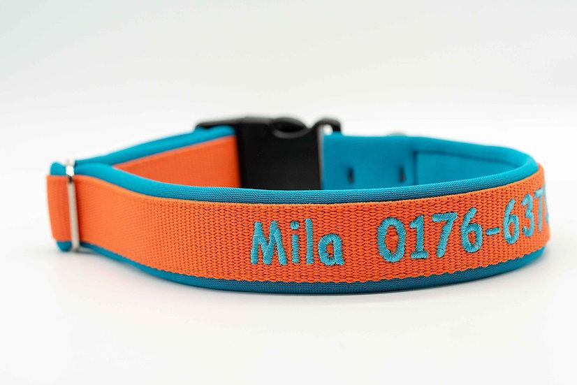 Hundehalsband Klickverschluss 35mm mit Stick