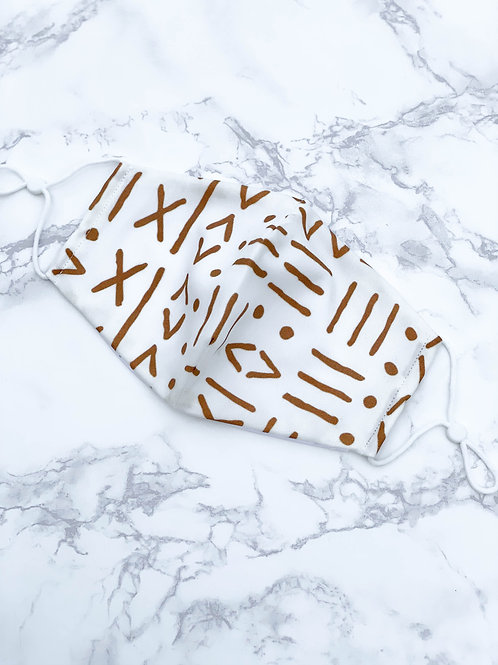 Brown and White Mudcloth Pattern