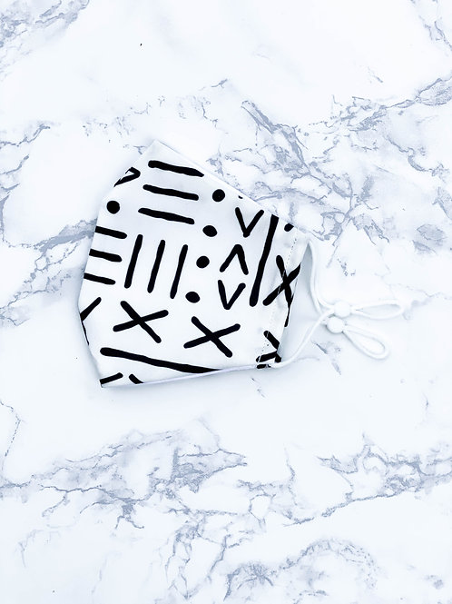 Black and White Mudcloth Pattern