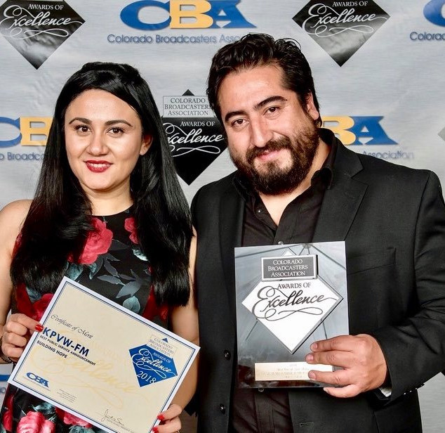 Colorado Broadcasters Association awards with Latino Radio Sation La Tricolor