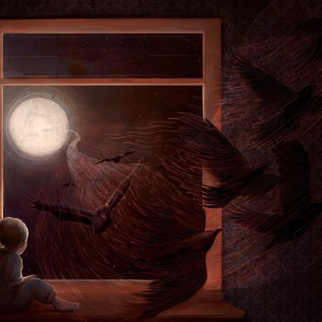 Edgar Allen Poe Illustration series.
