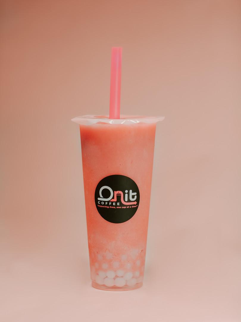 Strawberry Smoothie Yogurt Boba