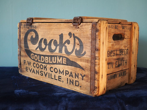 Cook's Goldblume Beer Crate Cooler with Lid